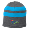 Port & Company® Fleece-Lined Striped Beanie Cap